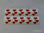 30 x  Red heart stickers - 3 different sizes (mixed)